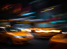 Illumination and night lights of New York City Royalty Free Stock Photo