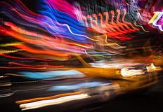 Illumination and night lights of New York City Royalty Free Stock Images