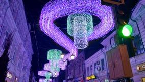 Illumination night street stock photo