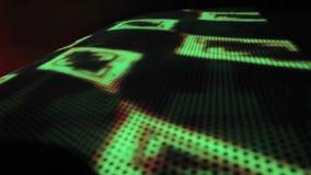 Illumination sophistiquée de LED, lumières colorées sur le mur Fond de boîte de nuit banque de vidéos