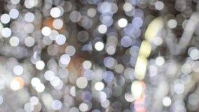 Illumination sur les rues d'une grande ville clips vidéos