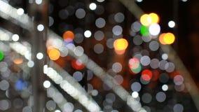 Illumination sur les rues d'une grande ville banque de vidéos