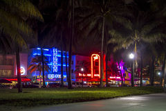 Illuminations in Art Deco District, Miami Beach Royalty Free Stock Image
