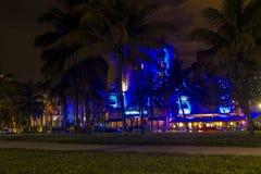 Illuminations in Art Deco District, Miami Beach Stock Photography