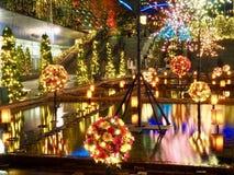 Illuminations d'hiver dans Korakuen photographie stock libre de droits