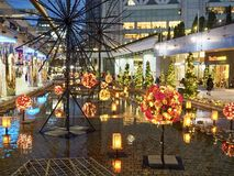 Illuminations d'hiver dans Korakuen photographie stock