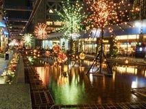 Illuminations d'hiver dans Korakuen photos stock