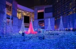Illuminations de saison d'hiver photo stock
