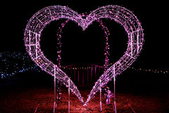 Illuminations at the heart. Picture of the beautiful heart illuminations Royalty Free Stock Images