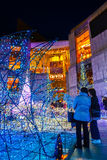 Illuminations light up at at Caretta shopping mall in Shiodome district, Odaiba, Japan Stock Photo