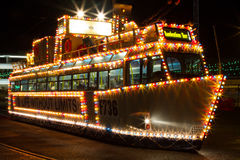 Illuminations Tour tram at Blackpool, Lancashire, England, UK. Royalty Free Stock Photography