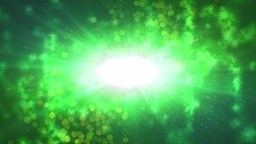 Abstract dotty green universe illustration Stock Photos