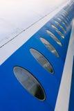 Illuminators on fuselage Stock Photo