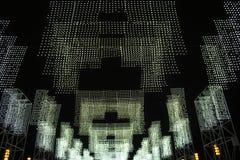 Illuminazione in bianco e nero del pendente Immagine Stock
