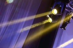 Illuminazione commovente di prestazione sulla costruzione Fotografia Stock