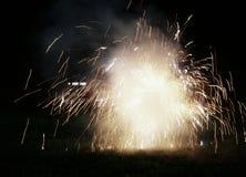 Illuminazione dei fuochi d'artificio Immagini Stock Libere da Diritti