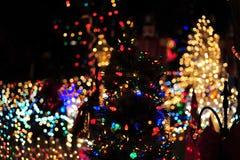 Illuminazione dell'albero di Natale fotografia stock