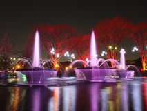 Illuminazione della fontana Immagine Stock Libera da Diritti