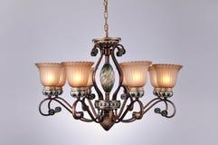Illuminazione della lampada del candeliere Fotografia Stock Libera da Diritti