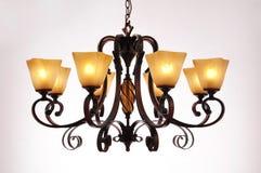 Illuminazione della lampada del candeliere Fotografia Stock