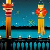 Illuminazione della lampada, diwali Fotografia Stock