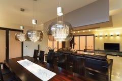 Illuminazione della sala da pranzo immagini stock