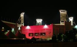 Illuminazione dello stadio di tennis del Qatar Fotografia Stock Libera da Diritti