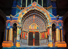 Illuminazione di Chartres Immagine Stock