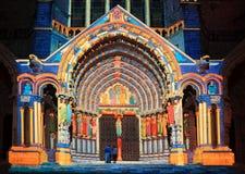 Illuminazione di Chartres Fotografia Stock