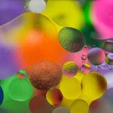 Illuminazione di colore a olio fotografia stock libera da diritti