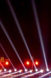 Illuminazione di concerto contro Immagine Stock Libera da Diritti
