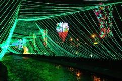 Illuminazione di Cristmas a MEDELLIN fotografie stock