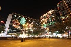 illuminazione di natale ad est di Tsim Sha Tsui Fotografia Stock