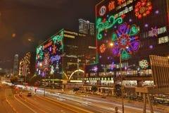 illuminazione di natale ad est di Tsim Sha Tsui Fotografie Stock Libere da Diritti