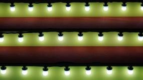 Illuminazione di Natale calda alla scala Fotografia Stock Libera da Diritti
