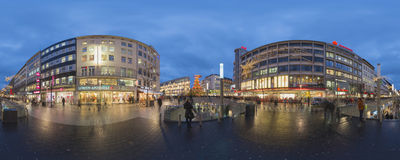 Illuminazione di Natale a Hannover Fotografie Stock