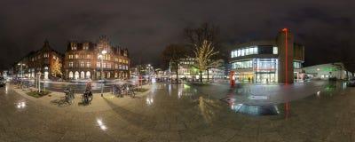 Illuminazione di Natale a Hannover Fotografia Stock Libera da Diritti