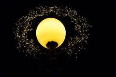 Illuminazione di notte con le file delle lampade del LED Fotografie Stock