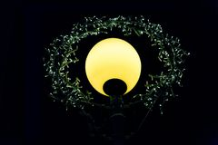 Illuminazione di notte con le file delle lampade del LED Immagini Stock