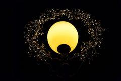 Illuminazione di notte con le file delle lampade del LED Immagine Stock Libera da Diritti
