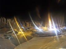 Illuminazione di notte di Kopaonik fotografie stock libere da diritti