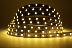 Illuminazione di striscia del LED Fotografia Stock
