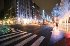 Illuminazione di Umeda Immagini Stock