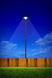 Illuminazione di via con l'arbusto Fotografia Stock