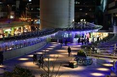 Illuminazione e centro commerciale, Osaka Japan fotografia stock libera da diritti