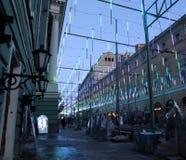 Illuminazione festiva di Natale Immagini Stock Libere da Diritti