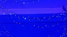 illuminazione Ghirlande dell'albero di Natale Paesaggio con l'ardore, lampeggiante Dinamico, metraggio di moto Film di festa stock footage