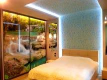 Illuminazione interna della camera da letto immagini stock