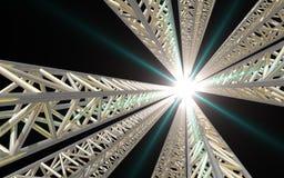 Illuminazione luminosa di concerto Immagine Stock