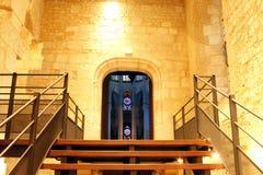 Illuminazione nella cattedrale a Beauvais Francia fotografie stock libere da diritti